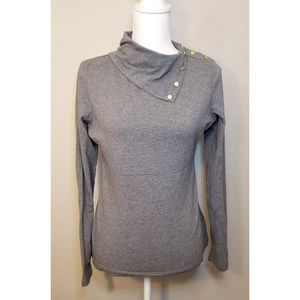 Tommy Hilfiger Button Split Cowl Neck Sweater
